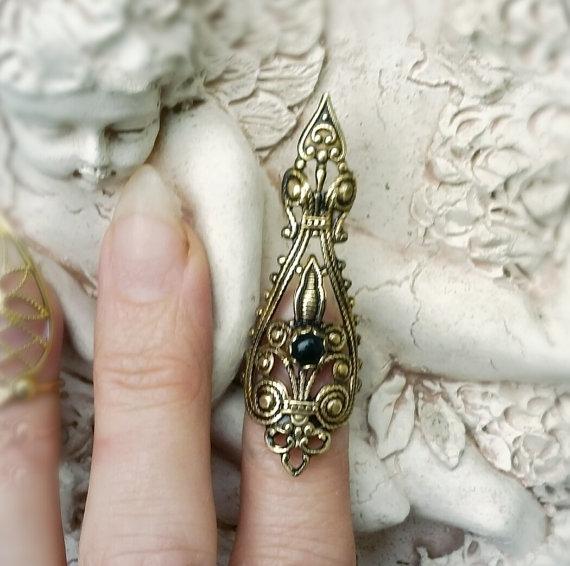 Creative Women Fashion Talon Nail Rings Masquerade Props False Claw Paw Talon Finger