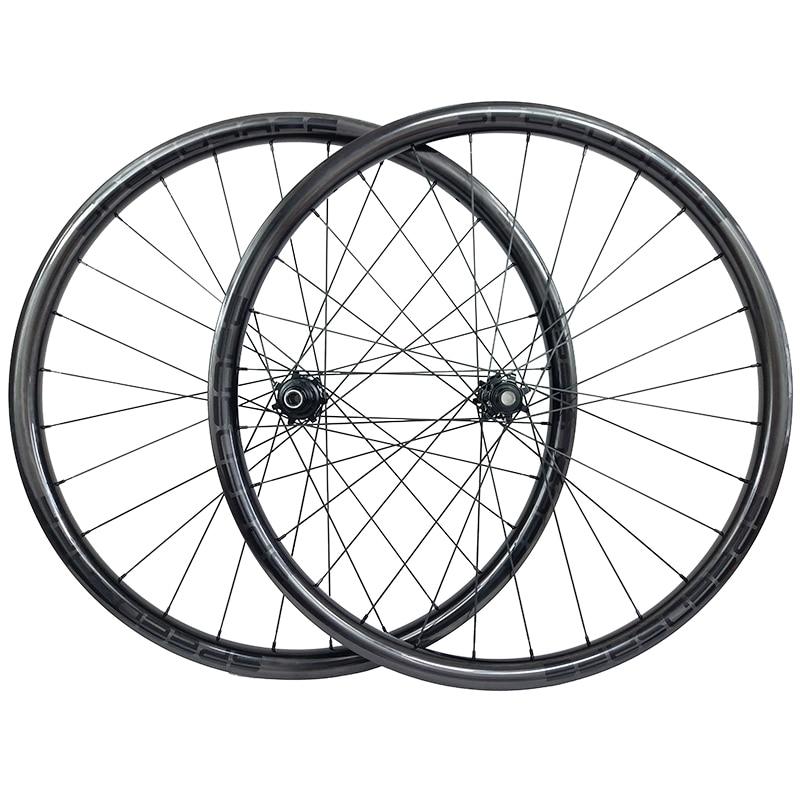 29er MTB AM ENDURO BOOST TUBELESS carbon wheels 40mm asymmetric 28mm deep straight pull electric wheelset