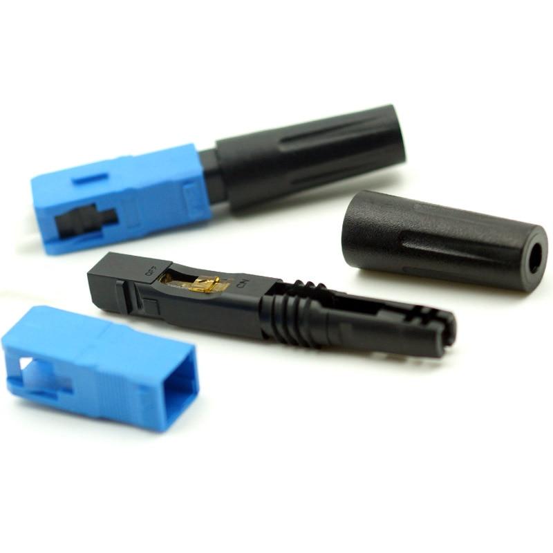Бесплатная доставка, 50 шт./лот, оптоволоконная оптика высокого качества FTTH SC Connecteur Rapide