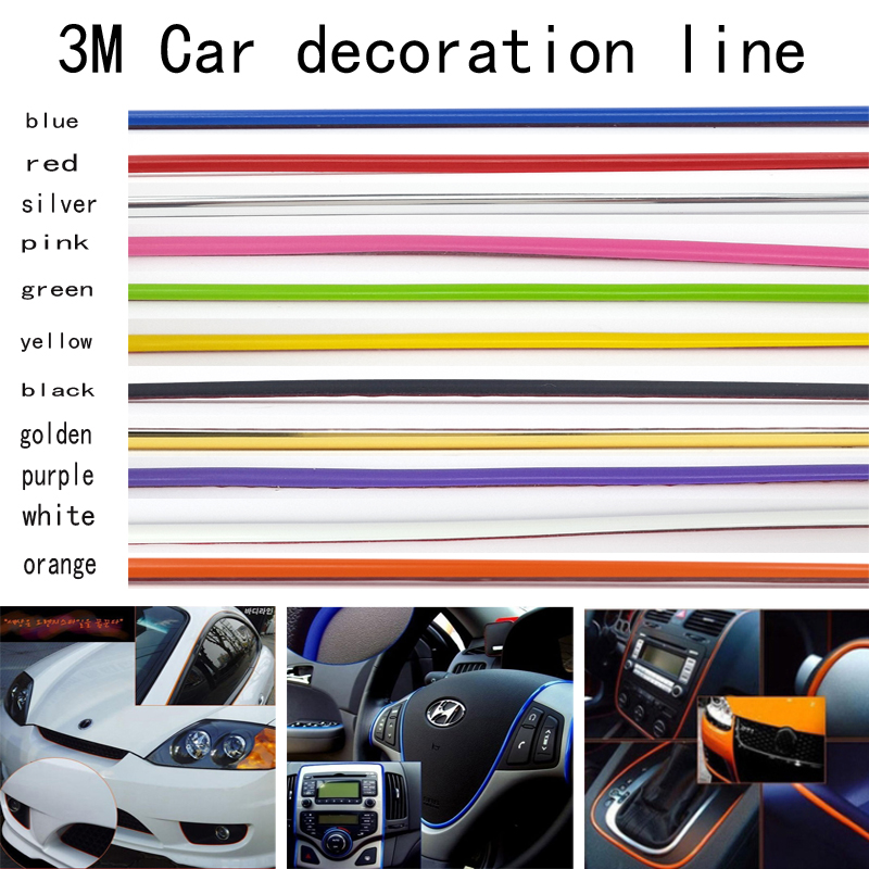 3 m car decoration line 11 kinds of color choices diy car interior and exterior trim molding. Black Bedroom Furniture Sets. Home Design Ideas