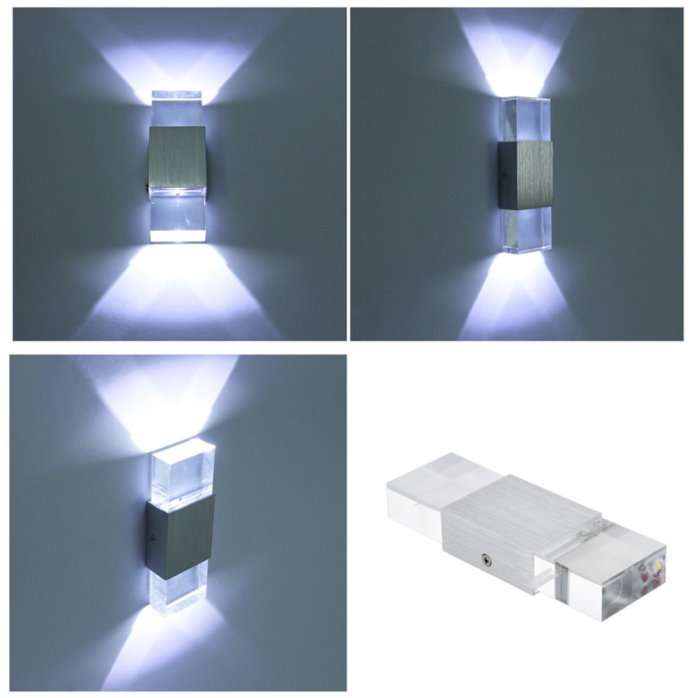 110v 220v 6w Led Aluminum Acrylic Crystal Wall Lamp Bedroom Lamp Luminaire Applique Murale Luminaire Wandlamp Verlichting 01 in LED Indoor Wall Lamps from Lights Lighting