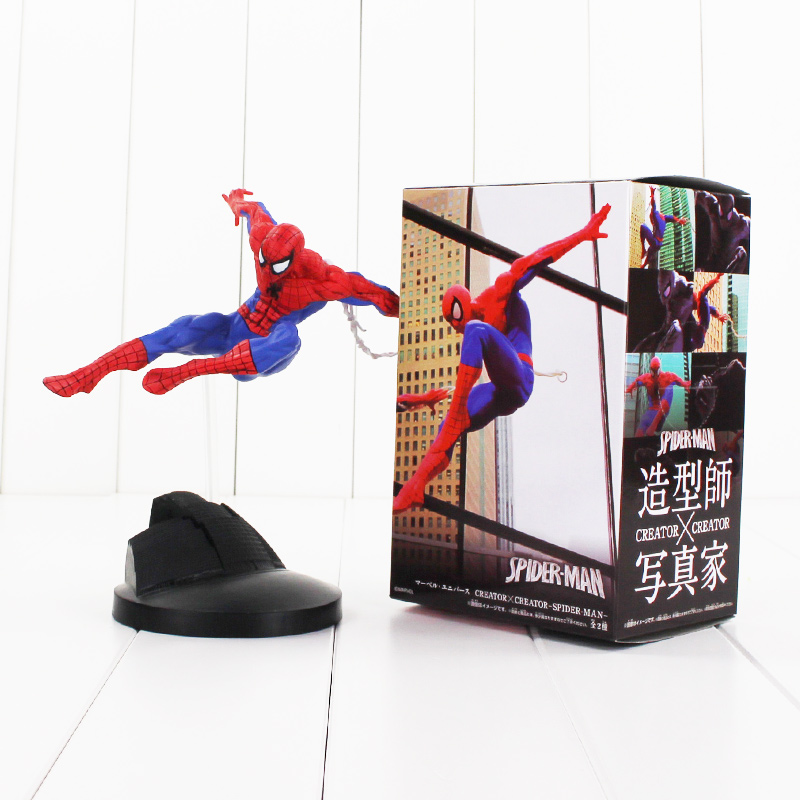 18cm Spiderman Figure Toy Superhero Spider Man Creator X Creator  Collectible Model Doll