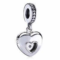 925 Sterling Silver Beads 2017 Heart Pendant Charms Fit Original Pandora Bracelets Bangles Necklace Women Jewelry
