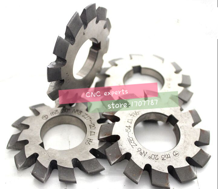 Free shipping Gear cutter M2 modulus PA20 degrees 1-8# 8pcs/let  HSS Gear Milling cutter Disc Milling cutter