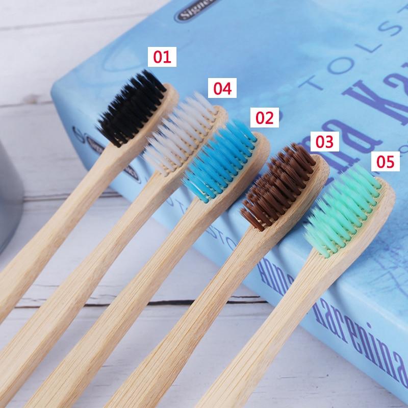 10 шт./компл. для взрослых деревянная бамбуковая зубная щетка натуральная мягкая щетина волокна эко бамбуковое волокно деревянная ручка|Зубные щетки|   | АлиЭкспресс