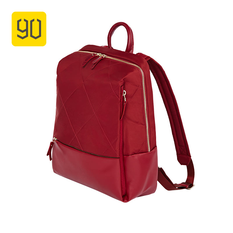 XIAOMI 90FUN Fashion Diamond Lattice Backpack 14 inch laptop Bags for Women Girls Ladies for School College Travel Trip 1