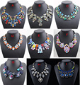 2016 New Z Collar Colorful Rhinestone Maxi Statement Necklace Women Fashion Jewelry Choker Bib Necklaces Pendants