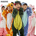 Flanela pijamas de Inverno das crianças Animal pijama one piece Totoro/Stitch/Panda/dinossauro/Pikachu Bbay Meninos meninas pijamas crianças