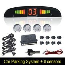 Parktronic 8 Parking Sensors Car Sensor Kit 4 Probes 8 Probes Buzzers Electromagnetic Wireless Radar Reverse Parking Sensor