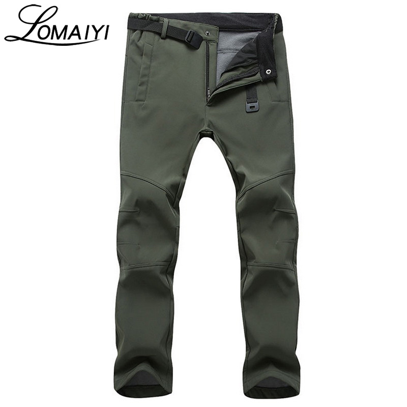 LOMAIYI Winter Warm Trousers Male Sweatpants Men's Work