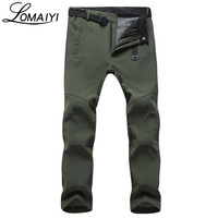 2017 Winter Warm Waterproof Softshell Men Casual Pants With Fleece Men S Style Trousers Shark Skin