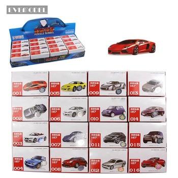 C8704 16 sztuk 4D modeli samochodów zestaw 1: 87 HO skala Puzzle Model samochodów układ kolejowy nowy DIY 16 style