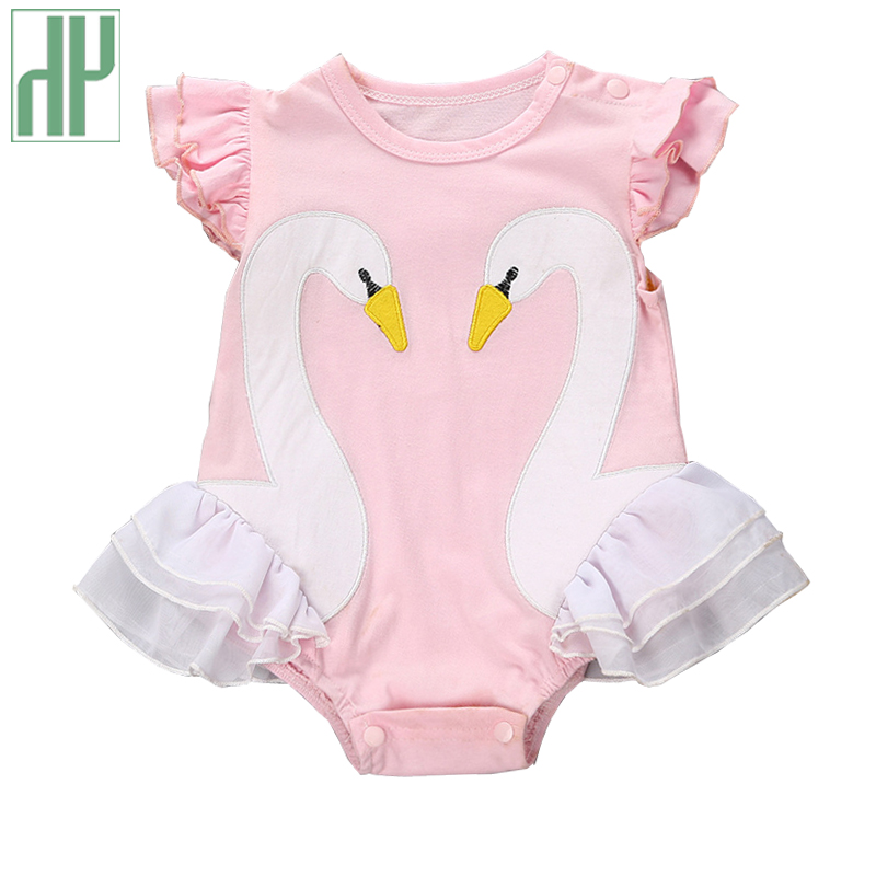 Newborn Baby girl clothes cartoon Swan baby animal costumes summer infant short sleeve pink baby rompers christmas outfits newborn baby girl rompers cute cartoon animal print clothes cotton long sleeve clothing set infant costumes baby boys clothes