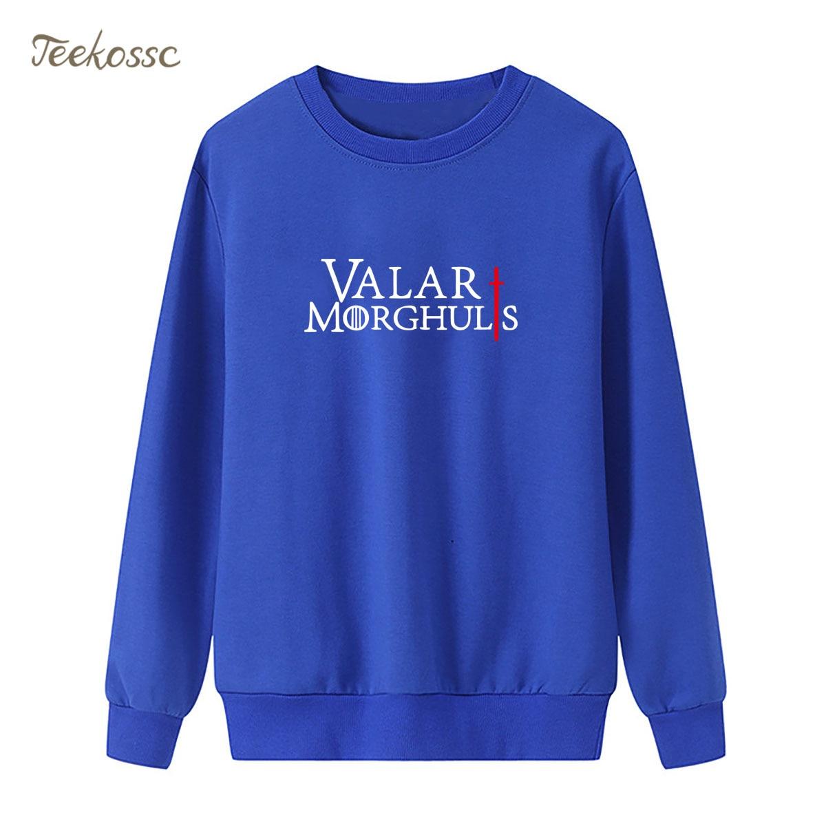 Game Of Thrones Sweatshirts Womens Valar Morghulis Khalessi Hoodies Winter Autumn Lady Pullover Fleece Warm Caual Sportswear
