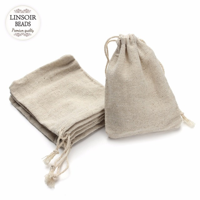 10Pcs/lot 8*10/9*12/10*14/13*17cm Jute Drawstring Pouch Burlap Bags Wedding Birthday Party Gift Bags Jewelry Supplies F2759