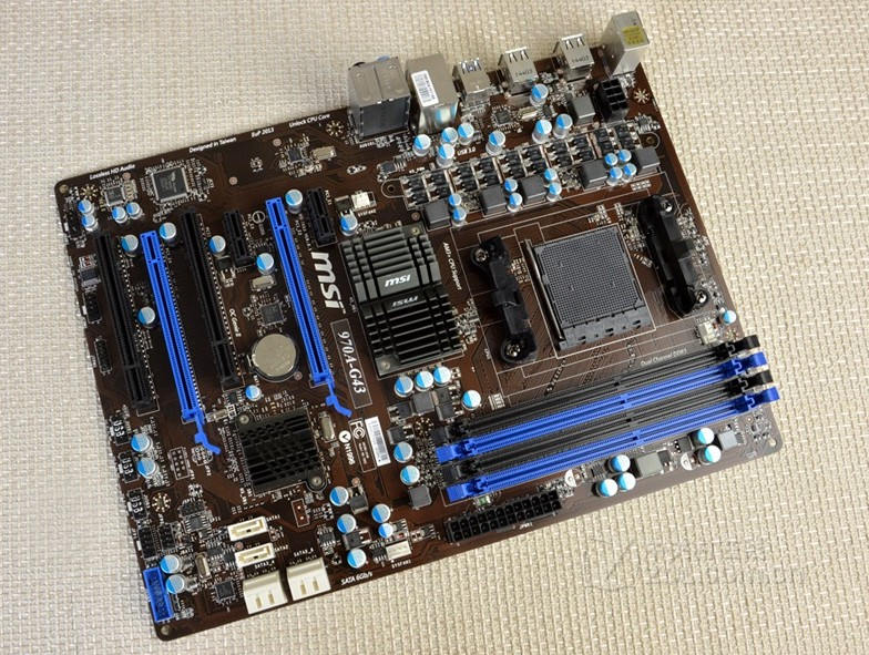 MSI 970A-G43 motherboard AM3+ DDR3 SBC Support FX8350 used 90%new msi z68s g43 g3 1155cpu z68 series
