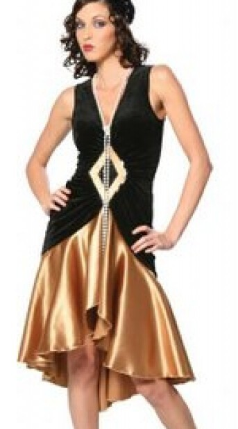 Plus Size Costume S 3xl Puttin On The Ritz 20s Flapper Black Gold