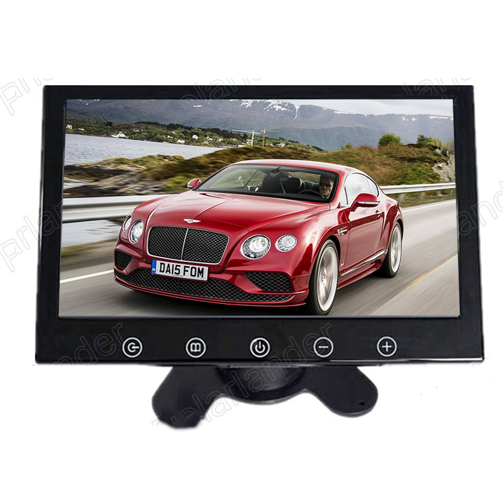 Support two ways of video input reverse priority free shipping 9 Inch color TFT LCD Display for Rear camera DVD Car Monitor