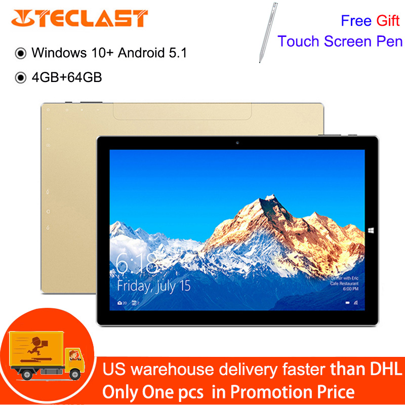 Teclast Tbook 10S Tablet With Stylus 10.1 Inch Windows 10 Android 5.1 4GB 64GB Intel Cherry Trail X5-Z8350 Quad Core 1.44GHz PCTeclast Tbook 10S Tablet With Stylus 10.1 Inch Windows 10 Android 5.1 4GB 64GB Intel Cherry Trail X5-Z8350 Quad Core 1.44GHz PC