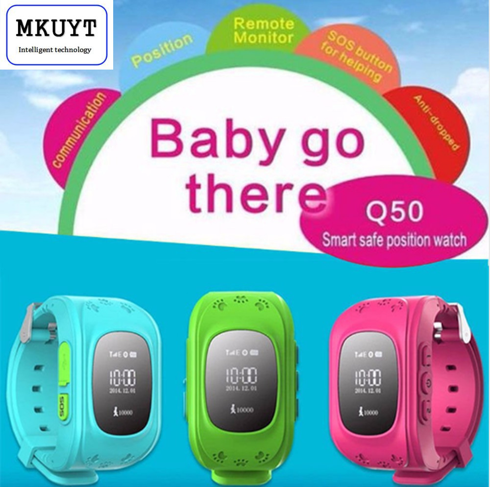 MKUYT Q50 Kid GPS Watch Anti Lost Smart Watch with OLED Screen Child GPS Location font