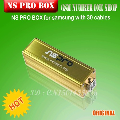 100% Original The newest NS PRO BOX for samsung with 30 cables unlock & Repair &Flash