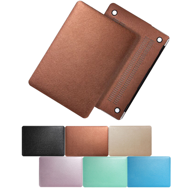 New Silk Leather Laptop Bag Case For Apple Macbook Air 11 Pro Retina 13 15 Plastic Hard Case Cover For Macbook 11 12 Inch Coque 2017 new arrival laptop bag case for macbook air 11 13 pro 11 12 13 pro retina 13 cover for macbook laptop sleeve