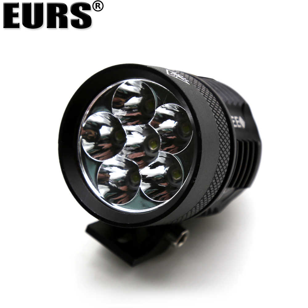 EURS Motorcycle headlights High Brightness exterior waterproof LED headlights 4LED L4X L6X Spot Driving Motorbike Lamp 6LED