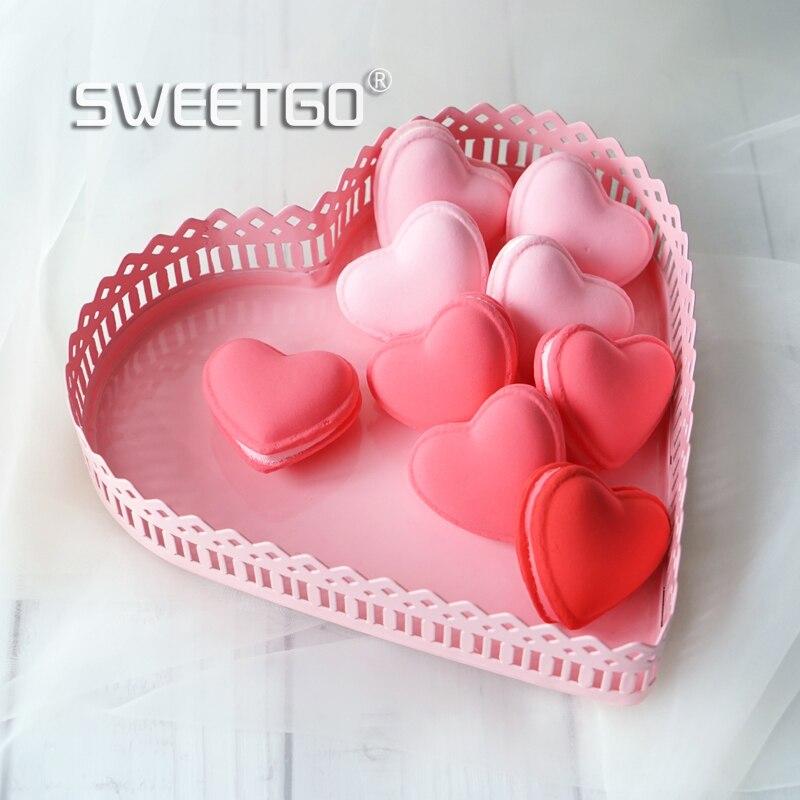 Sweetgo Rosa Herz Cupcake Stand Dessert Metallschale Hochzeitstorte