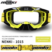 Free shipping 1pcs NENKI Motorbike Off-Road Motocross Sports ATV Dirt Bikes Motorcycle Goggles Eyewear Clear Lens