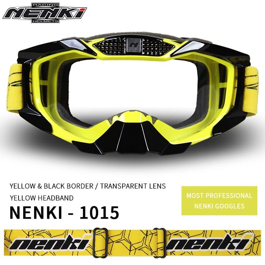 Livraison gratuite 1 pièces NENKI moto tout-terrain Motocross Sports ATV saleté vélos moto lunettes lunettes lentille claire