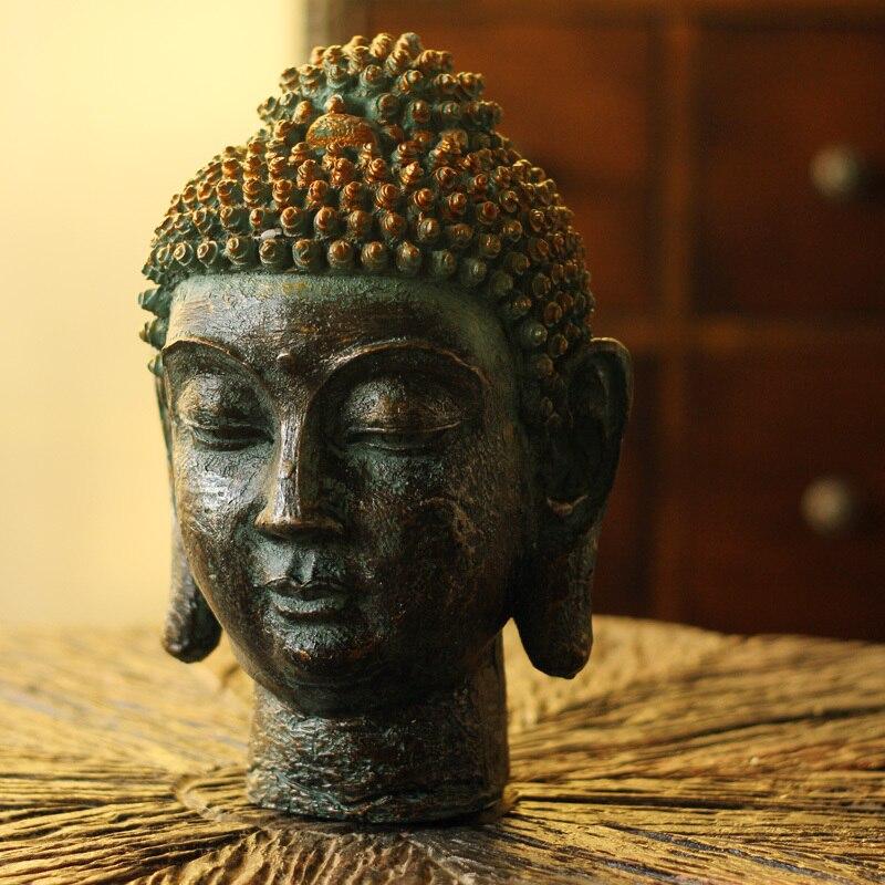 Декор для гостиной, креативная смола, мебель для дома в стиле ретро, мебель для декора, шакья Мани, голова Будды