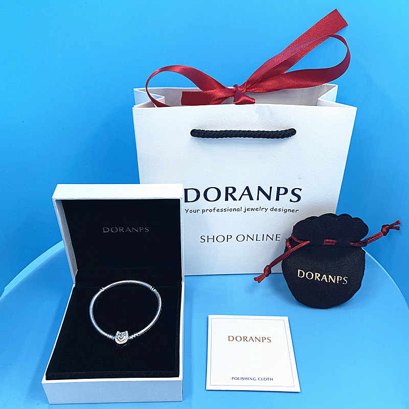 NEW 2019 100% Original da cadeia de charme pulseira 925 pulseira de Prata para as mulheres Presente da jóia