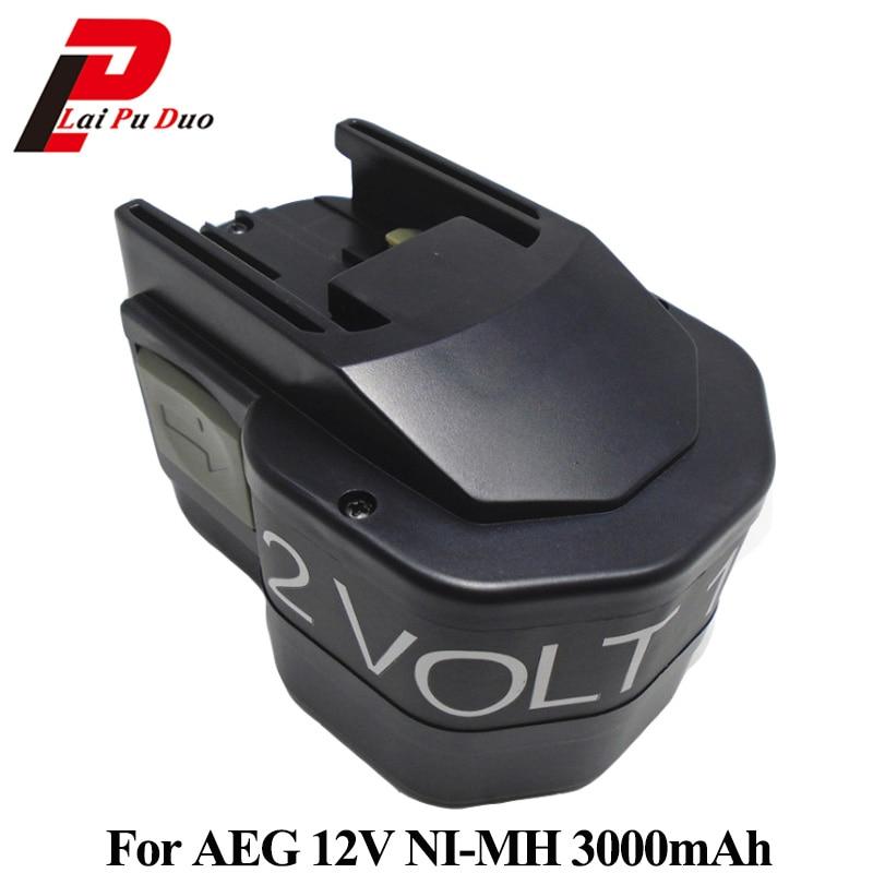3000mAh 12V Ni-MH Replacement Power Tool Battery for AEG:B12/BF12/BX12/bxl12/MXS12/MX12 eu free 5 pcs wantai 4 lead nema 17 stepper motor 42byghw609 4000kg cm 40mm 1 7a reprap a4988 3d printer diy