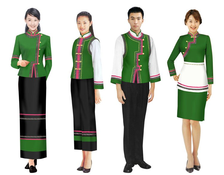 Hotel uniform staff uniform make to order in accessories for Spa uniform colors
