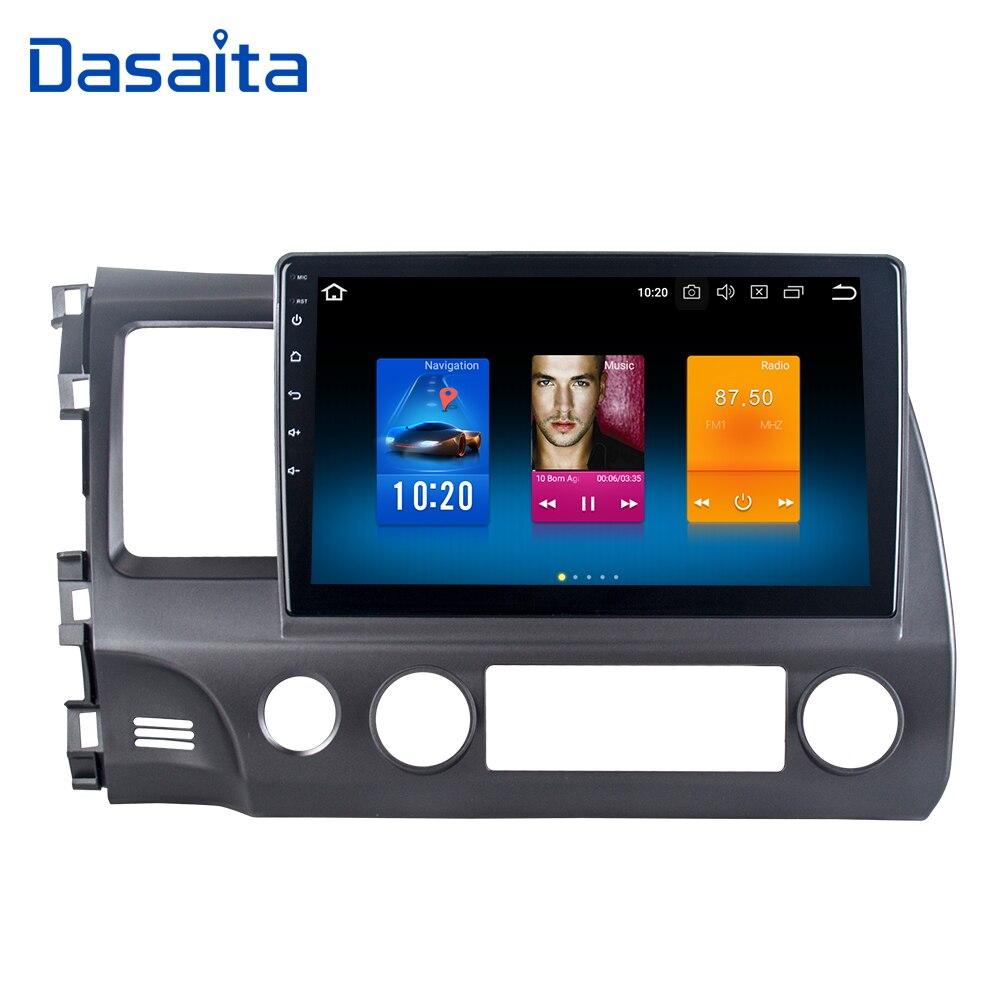 Dasaita 10.2 Android 8.0 Voiture GPS Radio Player pour Honda Civic 2006-2011 avec Octa Core 4 gb + 32 gb Auto Stéréo Multimédia