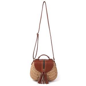 Image 3 - 2020 ünlü tasarımcı bayanlar dokuma örgü Messenger Crossbody çanta yeni yaz Bohemian kadınlar püskül saman plaj omuzdan askili çanta