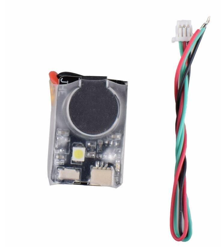 JHE42B 5 V Super ruidoso Buzzer Tracker 110dB con LED zumbador para Multirotor FPV Racing Drone controlador de vuelo