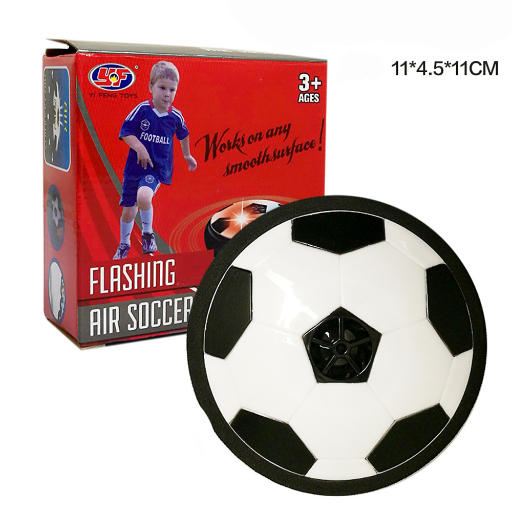 11CM Funny LED Light Flashing Arrival Air Power Soccer Ball Disc Indoor Football Toy In Box Multi-surface Hovering Gliding Toy