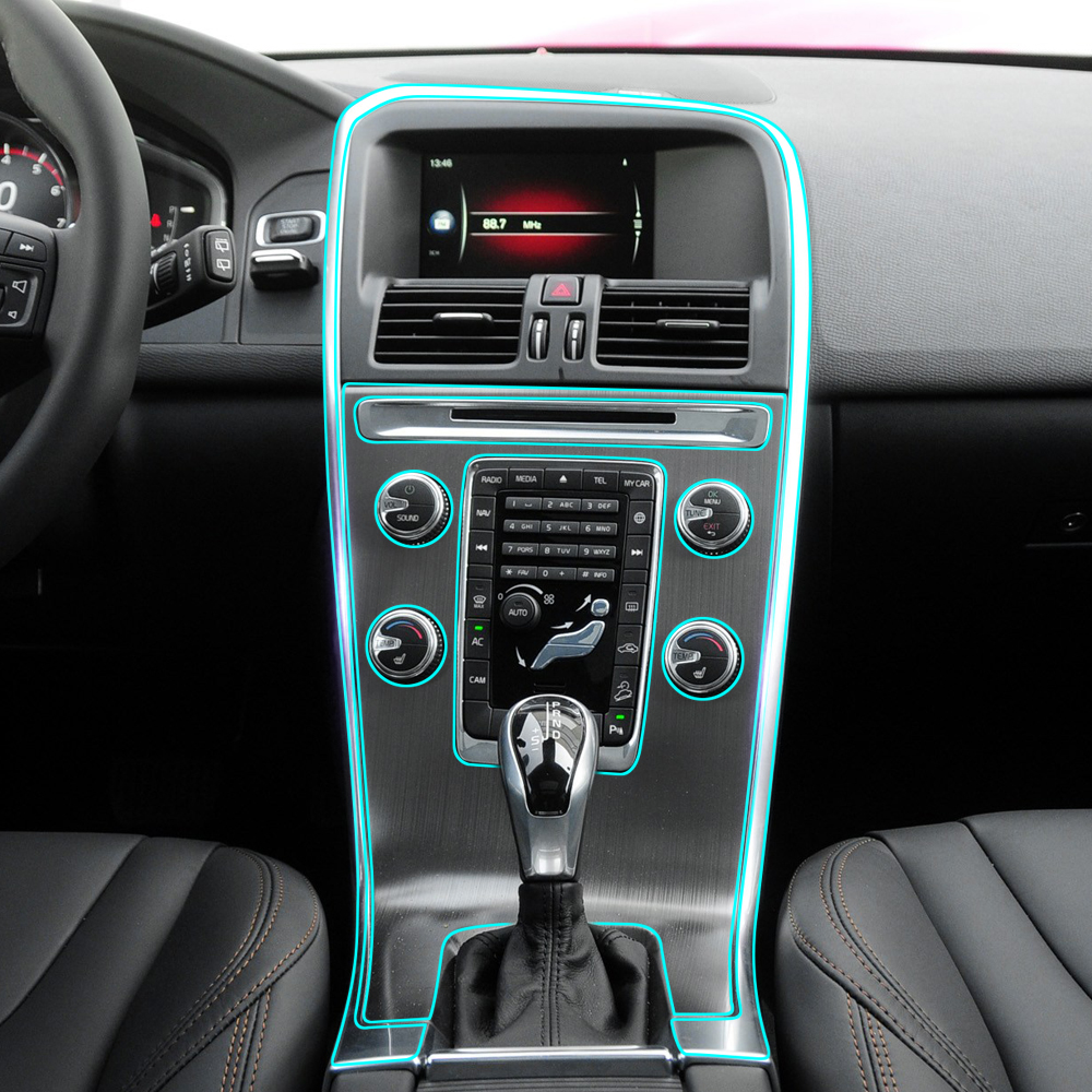 Anti Scratch Car Center Console Control Gear Panel Kit