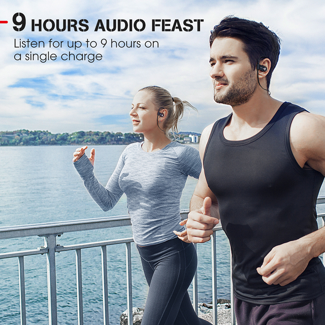 Mpow D8 Bluetooth Wireless Earphone IPX7 Structural Waterproof Sport Headphones In-Ear Earbuds With Mic For Gym PK Mpow Flame 3