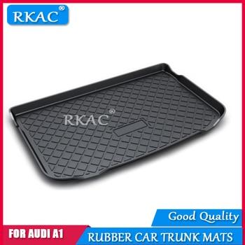 RKAC CUSTOM Fit for Audi A1 2014-2018 Rubber Car Heavy Duty trunk mat Waterproof Boot Liner Rear Car Back Seat Protector mats