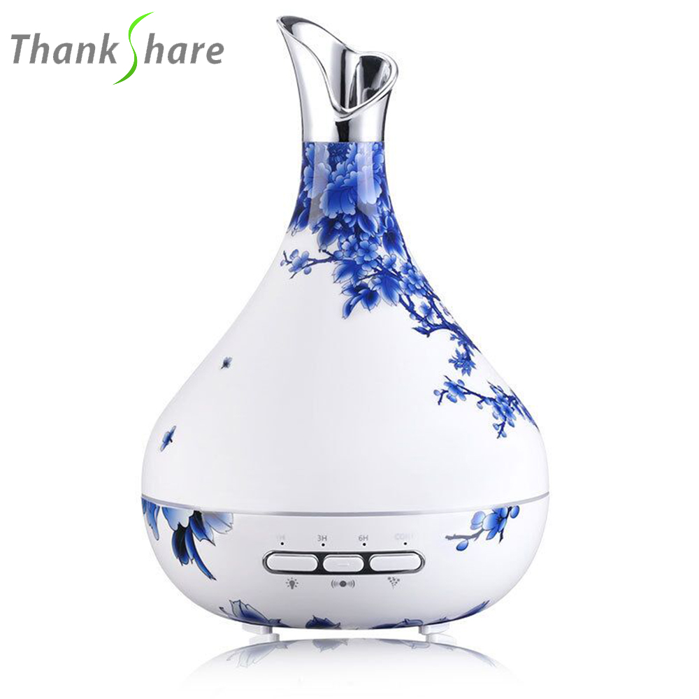 THANKSHARE 300ml Ultrasonic Air Humidifier Aroma Essential Oil Diffuser Aromatherapy Cool Mist Maker For Home Office SPA Fogger