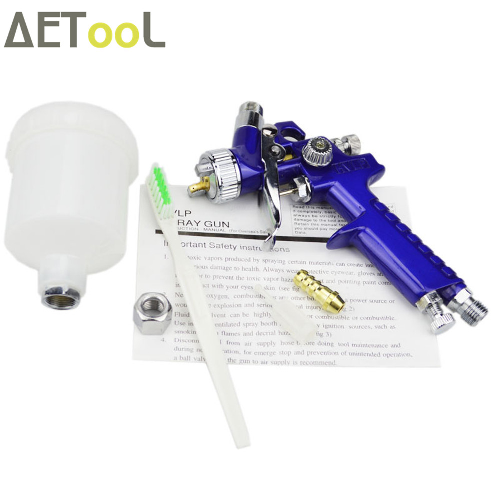 Image 3 - AETool 1.0MM Nozzle Professional HVLP Spray Gun Mini Air Paint Guns Airbrush With Air Regulator Gauge For Painting Car Aerograph-in Spray Guns from Tools on