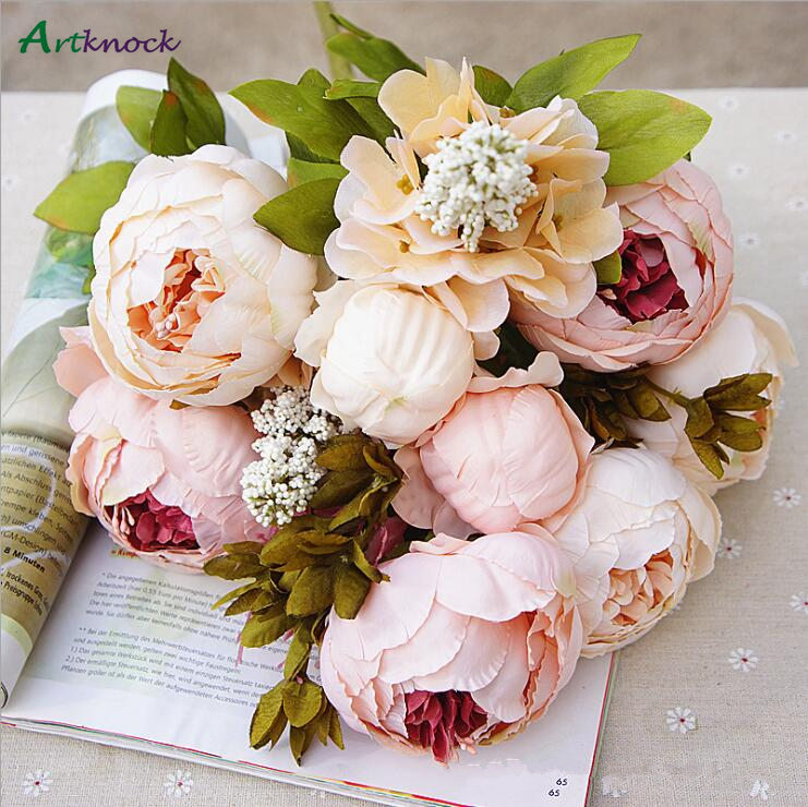 1Bunch Peony Silk Fake Artificial Flowers For Home And Hotel Decoration 1