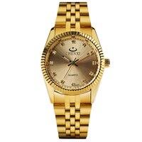 CHENXI 2017 Luxury Brand Quartz Wrist Watch Men Watch Gold Stainless Steel Bangle Wristwatch Business Crystal
