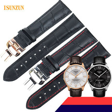 ISUNZUN Watchband For Tissot T099 Men's Watch Band Genuine Leather Watch Strap 21mm For T099.407A Watchband For T099 цена и фото