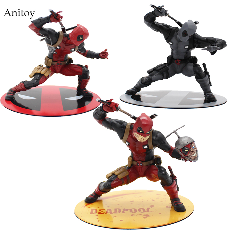 Super Hero X-Men Deadpool PVC Action Figure Collectible Model Toy 20cm KT2398  funko pop marvel deadpool 20 bobble head pvc action figure collectible model toy 4 10cm kt2203