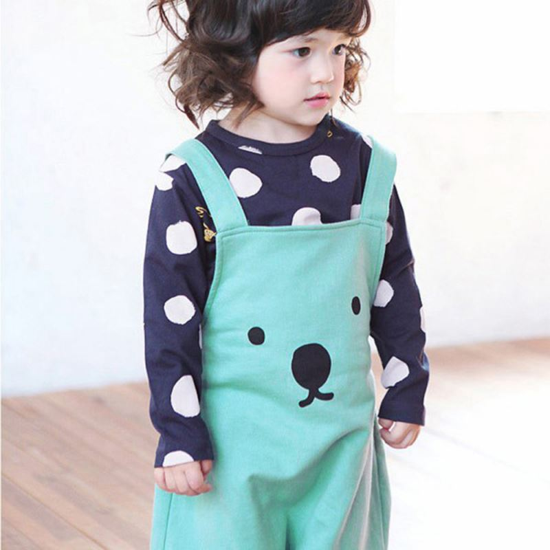 0-3Y Fashion Baby Boy Girls Bib Pants Overalls Bear Print Harem Pants Long Trousers ...