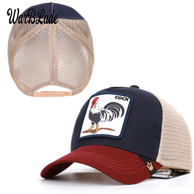 2019 New Fashion Animals Embroidery Mesh   Baseball     Caps   Men Women Snapback Hip Hop Hat Summer Breathable Mesh Sun Gorras Unisex