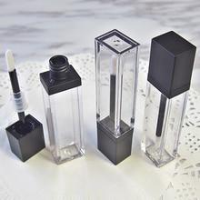 7ml Piazza Trucco Liquido Vuoto Rossetto Lip Gloss Tubi di Alta Qualità Trasparente Contenitore di Imballaggio Cosmetico 20 pz/lotto